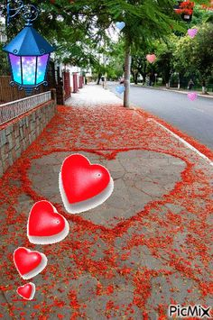 heart on street, I Love Heart, With All My Heart, Peace And Love, My Funny Valentine, Valentines Day, Heart In Nature, Heart Art, Good Morning Images, Good Morning Quotes