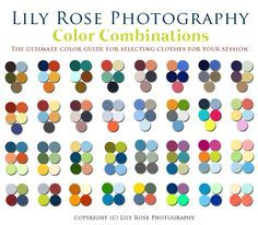 The ultimate color guide for selecting clothes for your session good color combinations, color combos Family Picture Colors, Fall Family Pictures, Family Picture Outfits, Family Pictures What To Wear, Family Pics, Family Posing, Good Color Combinations, Color Combos, Color Schemes