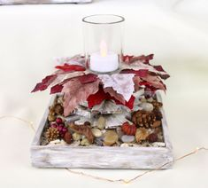 Winter Bonfire Handcrafted Decorative Wood Candleholder, Autumn/Winter theme table decor - Winter Bonfire Decorative Candleholder by Di's Studio Designs - Glass Votive Holders, Wood Candle Holders, Winter Fire, Fall Winter, Winter Theme, Autumn Theme, Table Centerpieces, Table Decorations, Master Bedroom Makeover