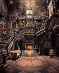 Looks like it's from the movie Crimson Peak. It may be a real place, but it definitely looks like the house in Crimson Peak Beautiful Architecture, Beautiful Buildings, Interior Architecture, Beautiful Homes, Beautiful Places, Interior Design, Interior Decorating, Decorating Ideas, Victorian Architecture