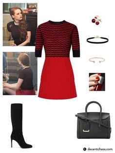 Red Fashion, Cute Fashion, Girl Fashion, Womens Fashion, Kpop Outfits, Girl Outfits, Cute Outfits, Fashion Outfits, Cheryl Blossom Riverdale
