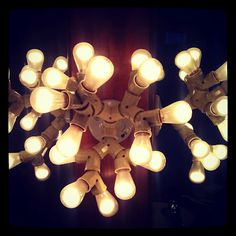 this crazy light fixture is a great DIY project. Hope it doesn't blow a fuse!