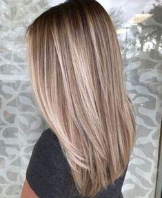 Straight Hair Highlights, Balayage Straight Hair, Short Straight Hair, Hair Color Highlights, Hair Color Balayage, Ombre Hair Color, Blonde Color, Thin Hair, Blonde Lowlights And Highlights