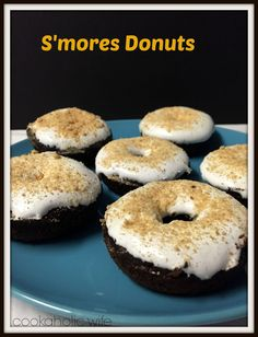 Cookaholic Wife: S'Mores Donuts - #Choctoberfest with Imperial Sugar