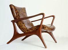 Signature Contour Low Back Lounge Chair from Vladimir Kagan #luxurydesign