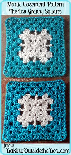 Baking Outside the Box: free Magic Casement pattern. It is the last chapter of the Lost Granny Squares Collection.