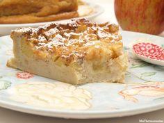 Clafoutis de manzana - MisThermorecetas Banana Colada, Deli, Banana Bread, French Toast, Cheese, Breakfast, Sweet, Desserts, Foods