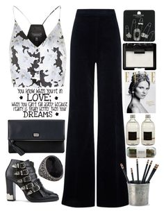 """""""Night out"""" by doga1 ❤ liked on Polyvore featuring Topshop, AG Adriano Goldschmied, Toga, Match, Love Quotes Scarves, O.S.P Osprey, NARS Cosmetics, Magdalena, Culti and Sevan Biçakçi"""