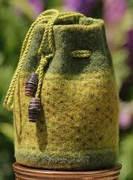 needle felted bags -
