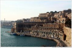 View of Valletta waterfront from Lower Barakka Gardens (Il-Barrakka t'Isfel).
