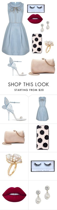 """Untitled #324"" by catarina-de-sousa-lopes on Polyvore featuring Sophia Webster, LC Lauren Conrad, Kate Spade, Ross-Simons, Huda Beauty and Lime Crime"