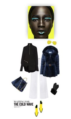"""""""Winter blues"""" by iriadna ❤ liked on Polyvore featuring STELLA McCARTNEY, Marques'Almeida, Blumarine, Topshop, Ted Baker, neon, flared, winterstyle and puffers"""