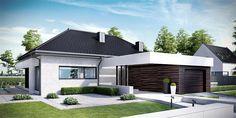 Projekt domu HomeKoncept-32 123,52 m2 - koszt budowy 257 tys. zł - EXTRADOM Modern Small House Design, Contemporary House Plans, Modern House Plans, Style At Home, Bungalow Haus Design, Circle House, Container House Plans, Loft House, Bedroom House Plans