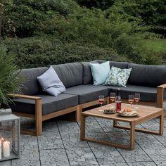 Un canapé d'extérieur en bois, Truffaut