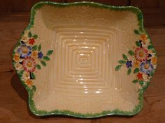 Crown Devon - Garden Path - 1930's - Bowl Vintage Plates, Vintage Dishes, Vintage China, Vintage Kitchen, Vintage Pottery, Vintage Ceramic, Vintage Soul, Garden Path, Retro Chic
