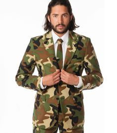 #Costume #Smoking #Camouflage #militaire #vetement #homme