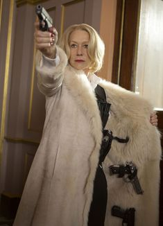 Hellen Mirren looking bad-ass | You even managed to use your clutch as a weapon in the first movie ...