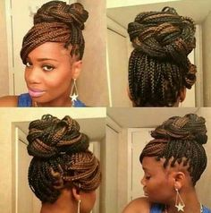 Yesterday I saw a girl on my block wearing this #braid #updo.  Shoulda asked her where she got it