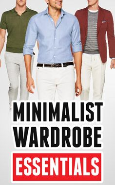 A MINIMALIST wardrobe is one that gives you seven men's wardrobe essentials. You only need these 7 items in your closet. Outfit Essentials, Mens Wardrobe Essentials, Men's Wardrobe, Minimalist Wardrobe Essentials, Real Men Real Style, All Black Fashion, Men Closet, Herren Outfit, Classy Casual