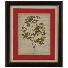 Bassett Mirror Old World Romantic Pressed Flowers IV 9900-514EEC