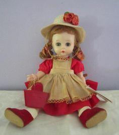 1950s-Madame-Alexander-Wendy-Doll-Strawberry-Blonde-Pigtails-Wrist-Tag-Needs-TLC