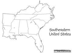 Blank Map Of Southeastern Region States On Pinterest  States - Map of southeast us