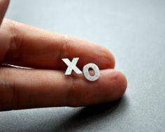xo Earrings Hug Kiss Valentine's Love Studs Modern by Epheriell, $44.00 (my newest design!)