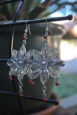 Pier 1 Imports Silver Hook Floral Earrings, $12