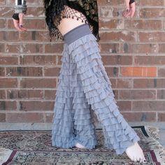 Tribal Belly Dance - Gypset Gaiters - Urban Dove - Flared Ruffled Leggies - Hooping - Dance - Leg Warmers.
