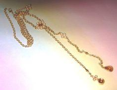 AVON Flora Lariat Necklace  New in Box 1997