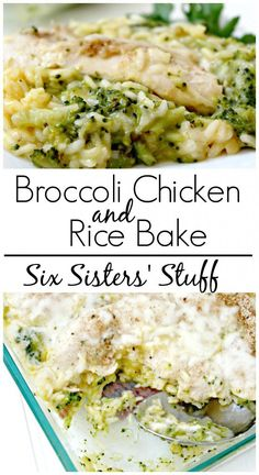 Broccoli Chicken and Rice Bake | Broccoli Chicken and Rice Bake from SixSistersstuff.com - and it only takes one pan to make it!