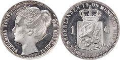 NumisBids: Schulman b.v. Auction 346, Lot 824 : KONINKRIJK DER NEDERLANDEN - WILHELMINA 1890–1948 1 Gulden 1909...
