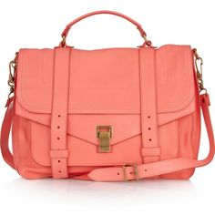 Large leather satchel