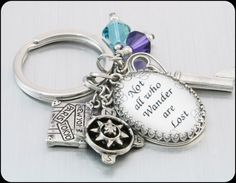 Personalized Quote Key Chain Choose your own by BlackberryDesigns, $48.00
