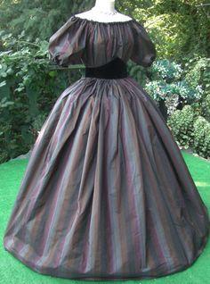 Civil War Dress. Simple ball/day dress.