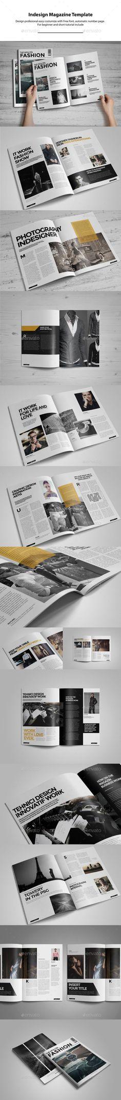 Indesign Magazine Template #design #journal Download: http://graphicriver.net/item/indesign-magazine-template/10635992?ref=ksioks