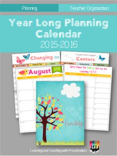 Don't start your year off overwhelmed.  Starting planning now for a stress free school year with this yearlong planning calendar.           It can be printed with the PDF version and hand written or if you are the digital type there is a editable version that can have textbox added and typed on.   See how I'm using it in my classroom.  Blog Post    58 pages