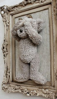 DIY Inspiration: Frame a Stuffed Animal