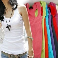 NEW 1 PC Casual Wild Women's Sleeveless Tank Tops Cami No Sleeve T Shirt Vest-in Tank Tops from Women's Clothing & Accessories on Aliexpress.com | Alibaba Group