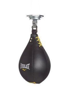 Everlast Elite Workout Top Grade Leather Speed Bag Medium free shipping #Everlast