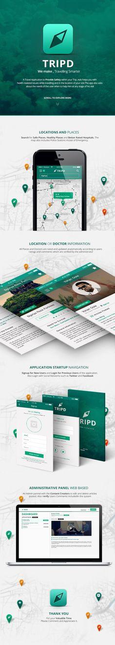 Unique App Design Tripd #App #Design (www.pinterest.com...)