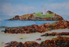 Watercolour Godrevy Lighthouse  £40.00