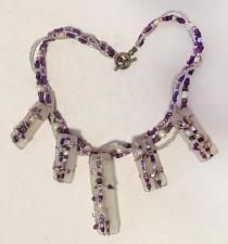 Multi color and multi strands purple and white beads necklace with to... Lot 247