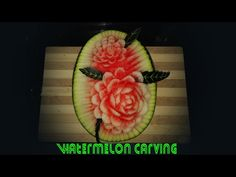 Making Flowers Watermelon carving