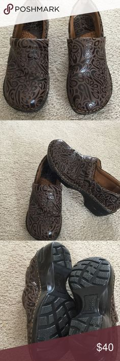 B.O.C. Born Concept Shoes Very good condition, leather upper with man made soles in China.  2 tone brown color. b.o.c. Shoes Mules & Clogs