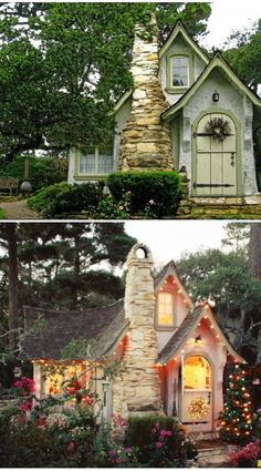 Lighted cottage. Can I please live here one day?