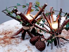 Like this simple rustic charm christmas-decor-candles-decoration-table-ideas-decorating Christmas Candle Decorations, Christmas Candles, Rustic Christmas, Christmas Crafts, Winter Centerpieces, Table Centerpieces, Centerpiece Ideas, Wedding Centerpieces, Christmas Ideas