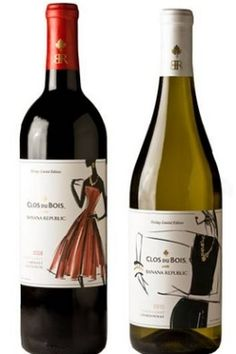 Clos du Bois wine bottles designed by Banana Republic - great tasting everyday wines