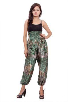 silk harem pants cute yoga pants baggy trouser by Theexoticlabel