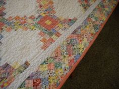 Border of the Triple Irish Chain Quilt from the 1930s